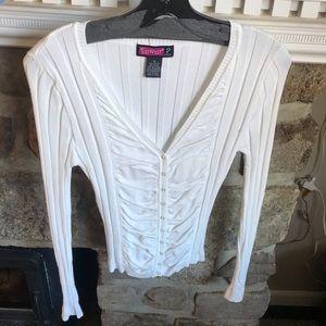 White Button Down Sweater